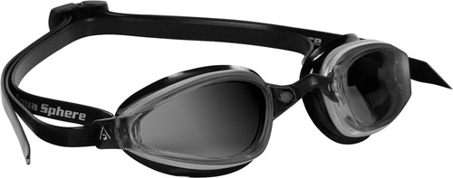 Aquasphere zwembril K180 Dark Lens Silver/Black