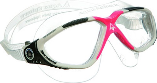 Aquasphere zwembril Vista Lady Clear Lens White/Red Obsession