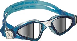Aquasphere zwembril Kayenne Small Mirrored Lens Aqua/White