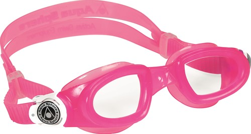 Aquasphere zwembril Moby Kid Clear Lens Pink/White
