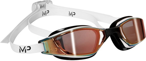 Aquasphere zwembril Xceed Multilayer Gold Lens White/Black