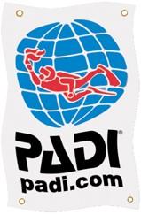 PADI Banner - PADI, 120cm x 75cm