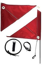PADI Flag - PADI, Beach, 2 Piece Kit with Bag & Base
