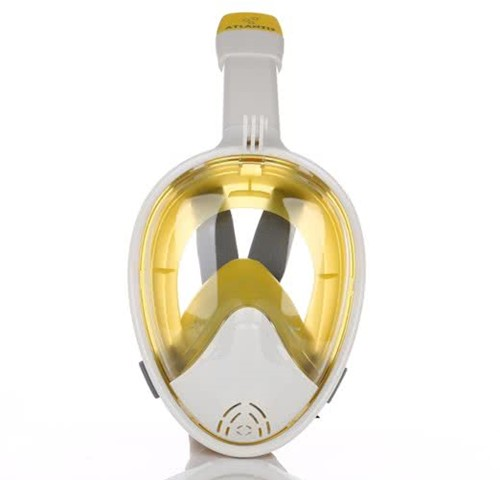 Atlantis 2.0 Full Face Snorkelmasker L/XL Wit/Geel