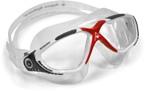 Aquasphere zwembril Vista Clear Lens White/Dark Grey