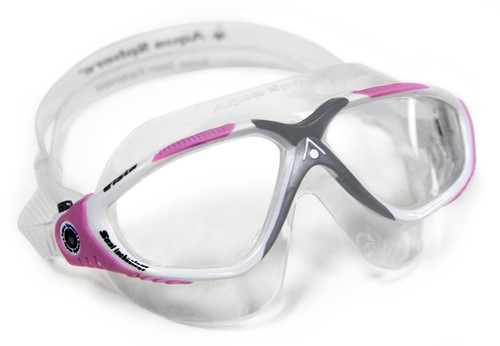 Aquasphere zwembril Vista Lady Clear Lens White/Pink