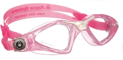 Aquasphere zwembril Kayenne Junior Clear Lens Pink/White