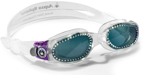 Aquasphere zwembril Kaiman Lady Dark Lens Clear/Purple