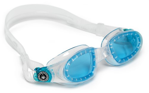 Aquasphere zwembril Mako Blue Lens Clear/Aqua