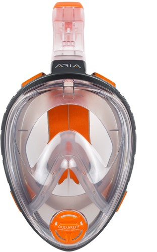 Ocean Reef Aria -  Full Face Snorkeling Mask  Small Grey-2