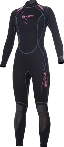 Bare 3/2mm duikpak Sport Full Pink Women 06