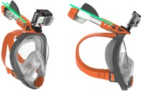 Ocean Reef Aria -  Full Face Snorkeling Mask  Small Grey-3