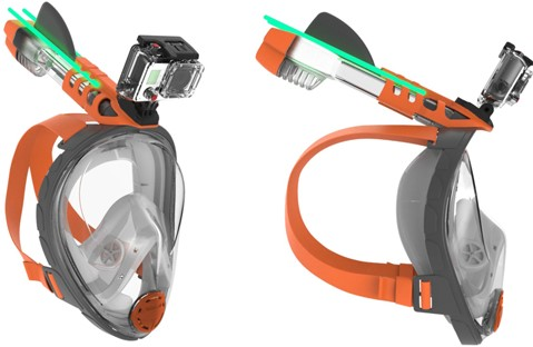 Ocean Reef Aria - Full Face Snorkeling Mask Grey S/M-3
