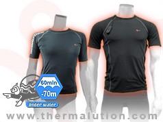 Thermalution Compact Dive Series 70M short sleave under suit.(2 batteries 7.4V) M