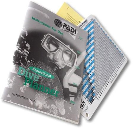 PADI RDP Table and Instructions for Use Booklet, Metric (German)