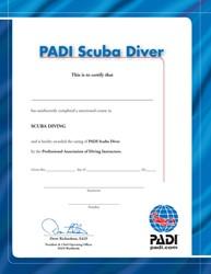 PADI Certificate - Junior Scuba Diver