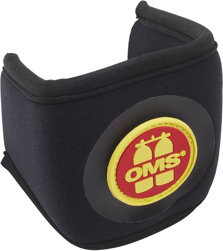 OMS Mask strap cover with OMS Logo