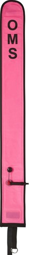 OMS Diver's Alert Marker, PINK 3.3' long (1 meter), closed, open bottom and No-Lock LP Connector, with OPV (~ 3 kg lift)