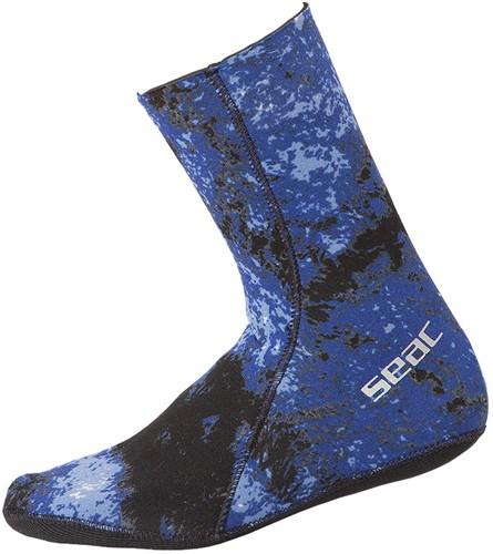 Seac Anatomic Camo Blue Socks 3,5 M