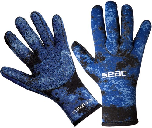 Seac Gloves Anatomic Camo Blue 3,5 M