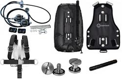 Apeks XTX100 single cyl set & Wtx D30 Psd & Web harness & Travel plate