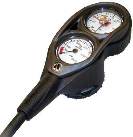 Apeks Narrow Hose Imperial 3D console manometer, dieptemeter & kompas
