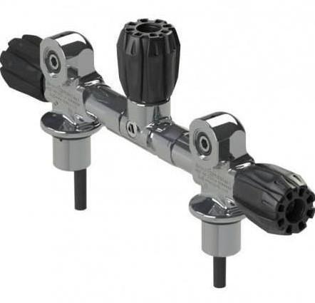 "Apeks 232Bar Din/ Yoke 5.5"" Manifold With Isolator"
