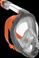 Ocean Reef Aria - Full Face Snorkeling Mask Grey S/M