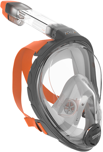 Ocean Reef Aria - Full Face Snorkeling Mask Grey L/Xl