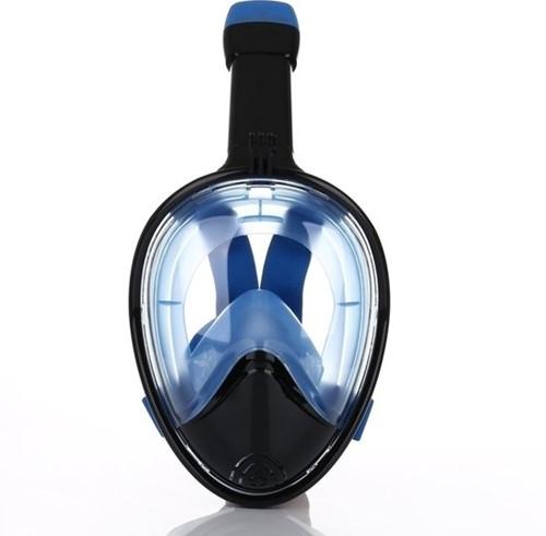 Atlantis 2.0 Full Face Snorkelmasker L/XL Zwart/Blauw