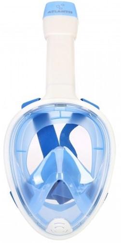 Atlantis Full Face Snorkelmasker White/Blue S/M