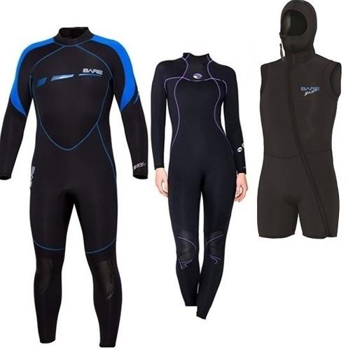 Bare 7mm Sport S-Flex/Nixie wetsuit with vest