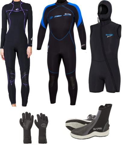 Bare 7mm Sport S-Flex/Nixie wetsuit set