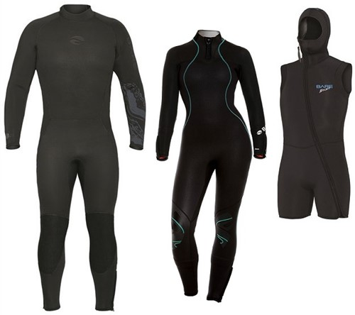 Bare 7mm Velocity-Nixie Ultra wetsuit with hooded vest