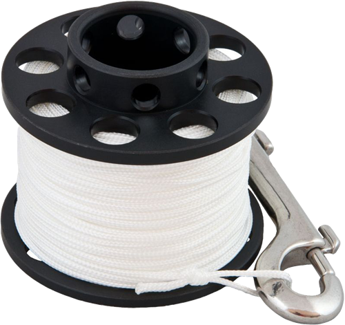 Tecline Spool Cold Water 40m with SS 100 mm snap