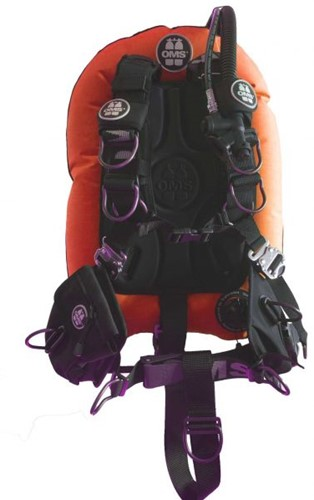 OMS SS, LAVA ORANGE / BLACK, Comfort Harness III Signature PF Mono 27 lb