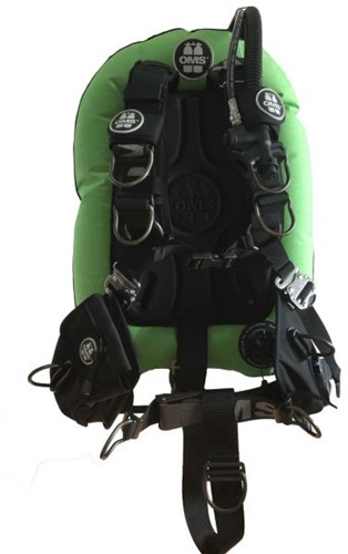 OMS AL, LIZARD GREEN / BLACK, Comfort Harness III Signature PF Mono 32 lb