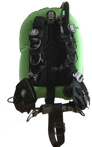 OMS SS, LIZARD GREEN / BLACK, Comfort Harness III Signature PF Mono 32 lb