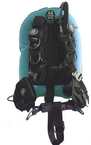 OMS AL, MIAMI BLUE / BLACK, Comfort Harness III Signature PF Mono 32 lb