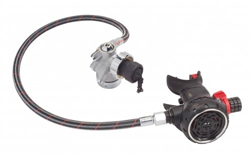OMS Airstream Evoque DIN with 75 cm OMS by Miflex hose PVD black
