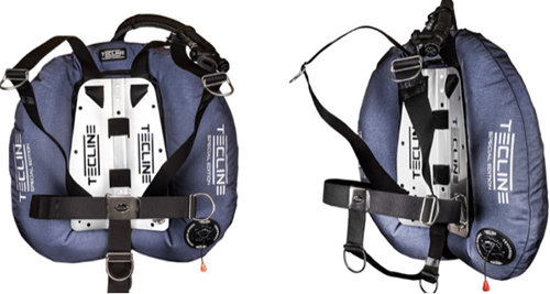 Tecline Donut 22 Special Edition blue, with DIR harness & BP