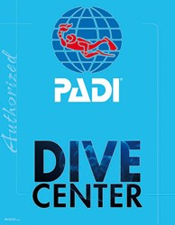 PADI Decal - PADI Dive Centre, 14x18""""