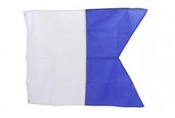 Duikvlag Alpha blauw/wit