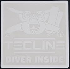 Tecline Sticker TECLINE DIVER INSIDE 10 x 10 cm - white