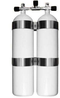 Stalen Dubbelset 12 Liter Concave 232 Bar