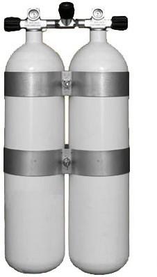 Stalen Dubbelset 12 Liter 300Bar