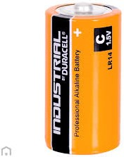 Batterij Alk. Duracell Industrial C