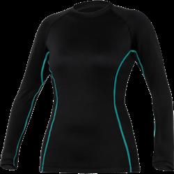 Ultrawarmth Base Layer Top Black/Aqua Women