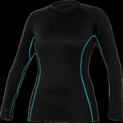Ultrawarmth Base Layer Top Black/Aqua Women M