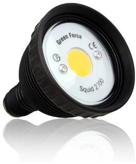 Greenforce Squid LED 2700 SET incl. montagestuk batterijhouder en 0,5m kabel